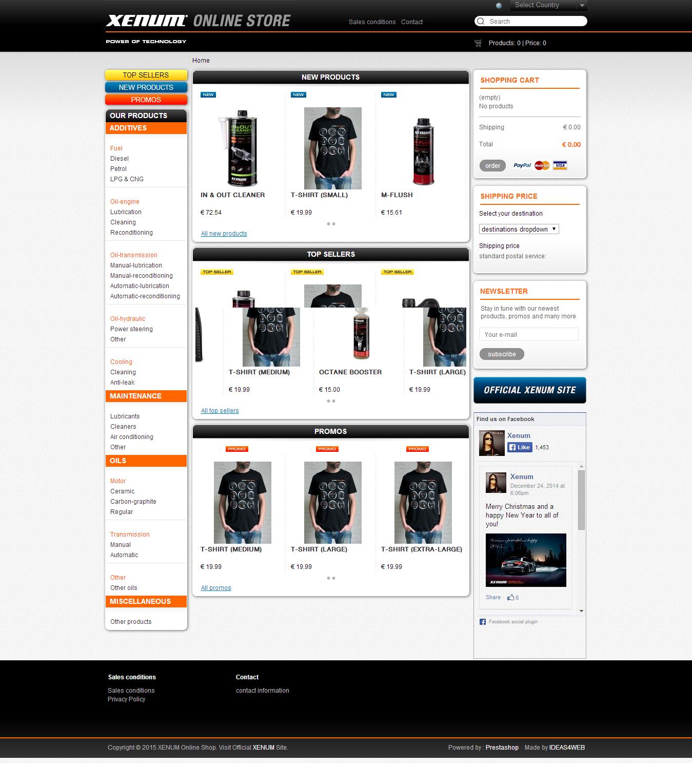 Онлайн магазин на XENUM